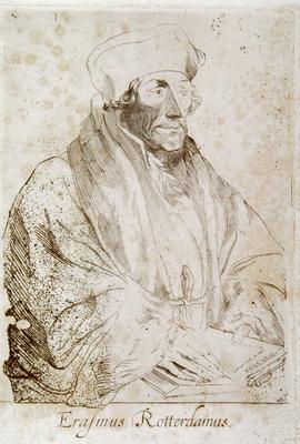 Antonio Unknown after Van Dyck; Erasmus Rotterdamus; Circa 1600-1640s; 1922/1/58