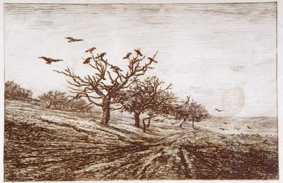Charles Daubigny; The Crows; 1867; 1922/1/60