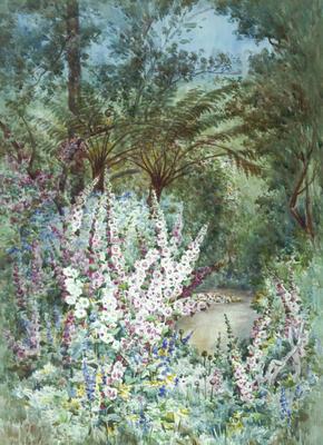 Minnie Izett; A New Zealand Garden; Pre 1924; 1977/47/1