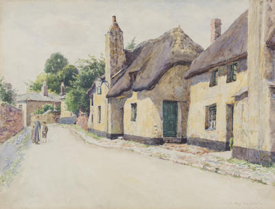 Thatched Cottages (possibly R.L. Stephenson's birthplace)