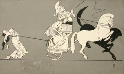 Untitled (cartoon - chariot/driver/slave)