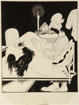 K. Grus; Untitled (Rooster crowing in dead of night); 1918/2/95