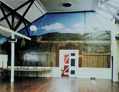 Unknown; Richard Wotton; Mural in Savage Club; 1988; 1995/46/1