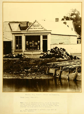 Messrs. H.I. Jones's Library and Newsroom, Taupo-Quay, 1864-1871