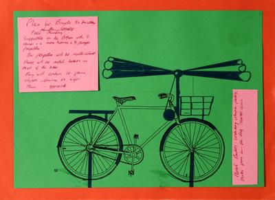 Don Driver; Working drawing for Bicycles Installation; Circa 1985; 1995/55/1