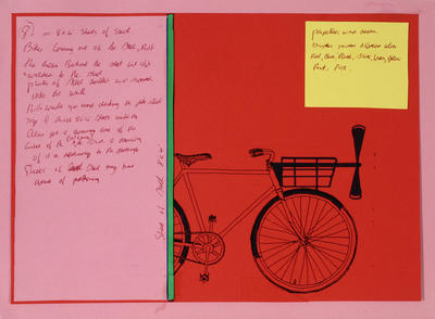 Don Driver; Working drawing for Bicycles Installation; Circa 1985; 1995/55/2