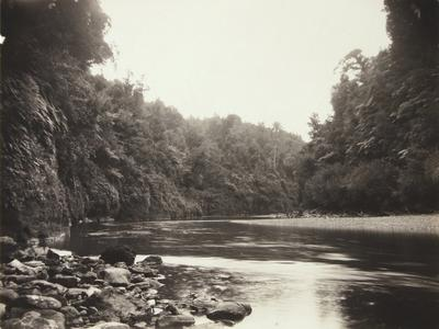 Untitled (river scene, boulders lower left corner)