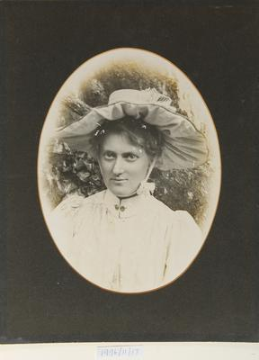 Untitled (portrait of a woman in a hat) (F.J. Denton's wife?)
