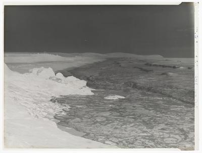 "Black and white negative of a seascape (""C"")"