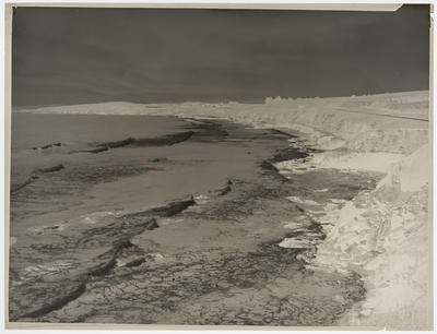 Frank Denton; Black and white negative of Sea and Rocks [this is the negative for 1996/11/19]; L1996/11/59