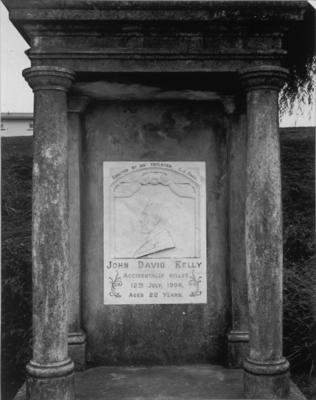 Memorial to John David Kelly, Palmerston North, 6 February, 1986