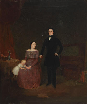 Portrait of Thomas Hudson Davis, his wife Elizabeth Taylor, and their son Henry Inman Davis