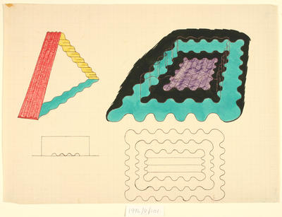Untitled (sketch of two structures)