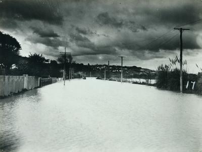 Untitled (flood scene of Anzac Parade)