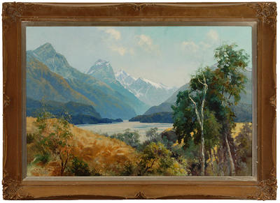 The Dart Valley, Wakatipu, from Paradise Valley