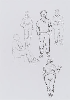 Untitled (5 figure studies)