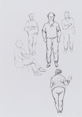 Untitled (5 figure studies)