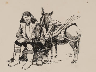 Untitled, Man with donkey study