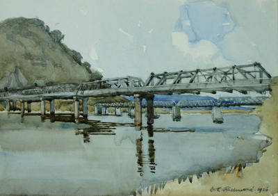 Dorothy Richmond; The Two Bridges, Greymouth; 1926; 1929/3/1