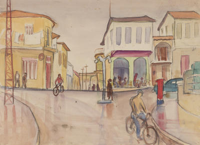 Untitled, Outdoor street scene study