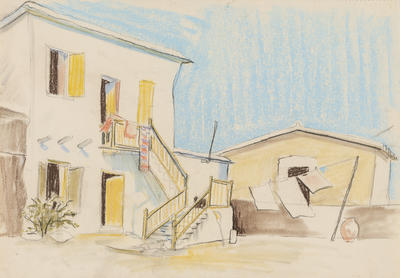 Untitled (Buildings with Washing)