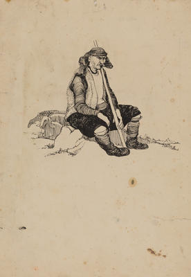 Untitled (seated man)