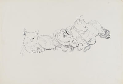 Untitled (Three cats)