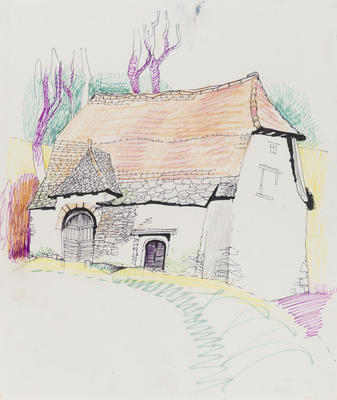 Untitled (Village scene)