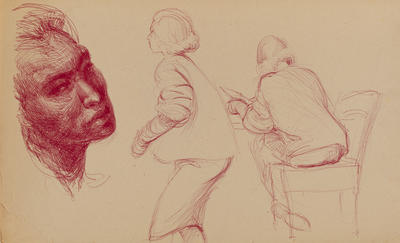 Joan Grehan; Untitled (figure studies); 2014/1/125