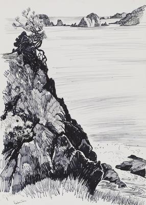Untitled (Rocky seaside scene)
