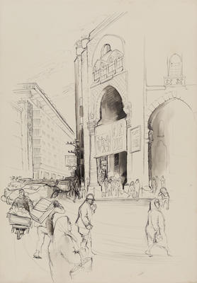 Untitled, (street scene)