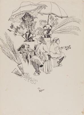 Untitled (Flower sellers)