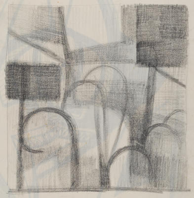 Joan Grehan; Untitled, (shapes and lines); 2014/1/303