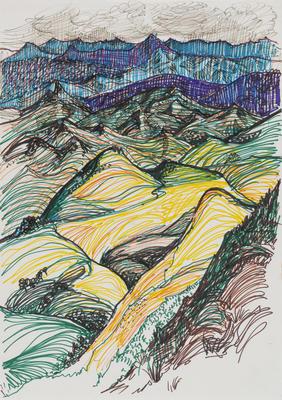 Untitled (Hills study)