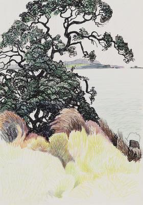 Untitled (Coastal landscape)