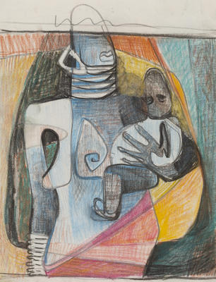 Joan Grehan; Untitled, (figure with child); 2014/1/310