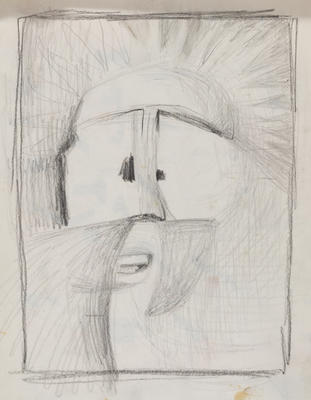 Joan Grehan; Untitled, (face); 2014/1/312