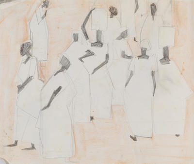 Joan Grehan; Untitled, (group of figures); 2014/1/313