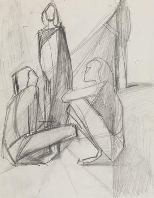 Joan Grehan; Untitled, (three figures); 2014/1/450
