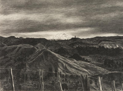 "Mnt Ruapehu from Bells Junction (""25 years ago')"
