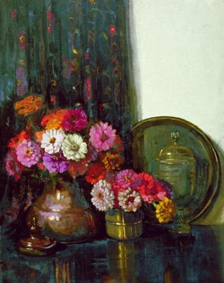 Dorothy Richmond; Zinnias; 1932; 1935/1/1