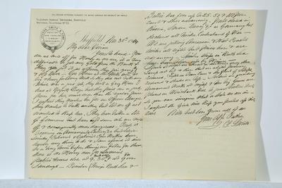 Joseph Frederick Smith; [Letter, Joseph Frederick Smith to Vivian Smith]; 30 Nov 1914; A2015/4/41