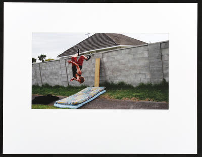 Untitled (boy and mattresses)