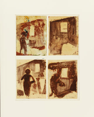 Untitled (Figure by Window) set of 4 works