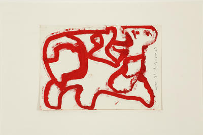 Horses (red outline horse and rider)