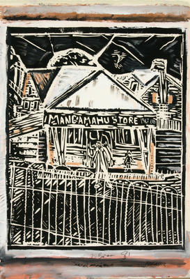 Nigel Brown; Mangamahu Store; 1981; 1982/43/1