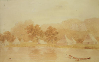 Military Camp, Hutt River c. 1840