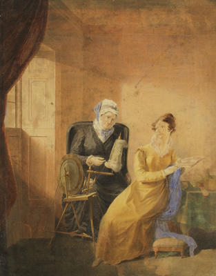 Sarah Murray, Gilfillan's first wife at the Spinning Wheel