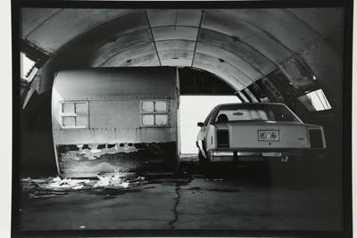 Caravan and car, Wendover Airbase