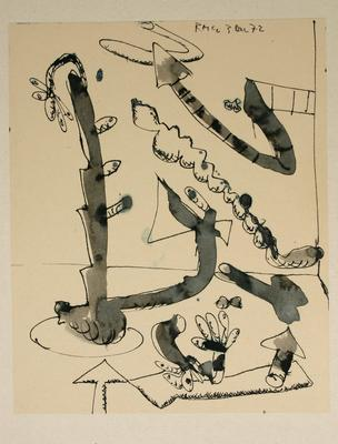 "Robert McLeod; Working drawing for ""Wet Dream above the Windy City""; 1972; 1981/2/2.2"